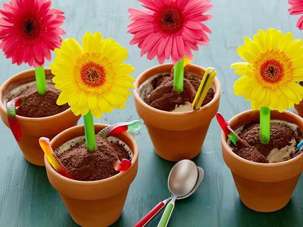 Ice Cream Flower Pot Desserts