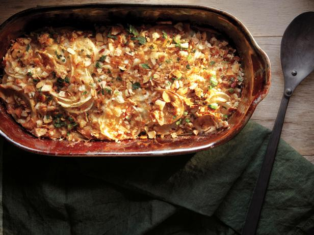 Turnip Gratin With Almonds