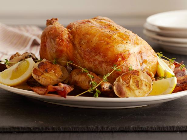 lemon and garlic roast chicken - Ina Garten Baked Bacon