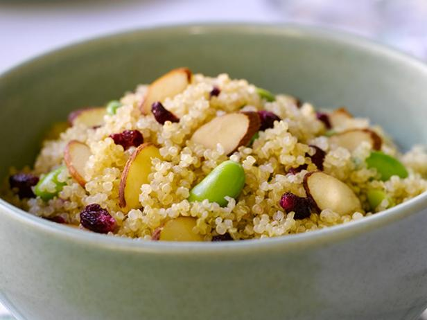 Quinoa Salad with Edamame and POM
