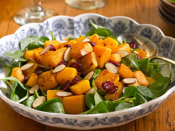 Winter Squash and Honey-Almond Cranberry Salad
