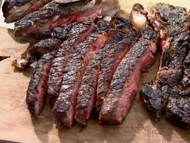 Eli 39 s grilled rib eye steak recipe food network - Ribs on the grill recipe ...