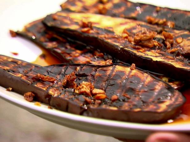 Grilled Eggplant with Sherry Vinegar Drizzle