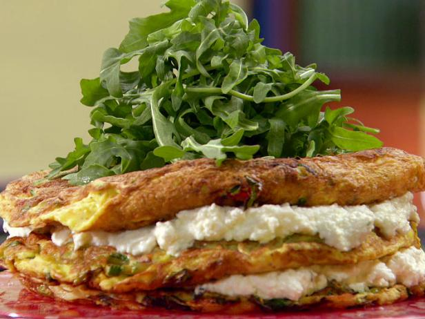 Layered Zucchini and Ricotta Omelet Cake