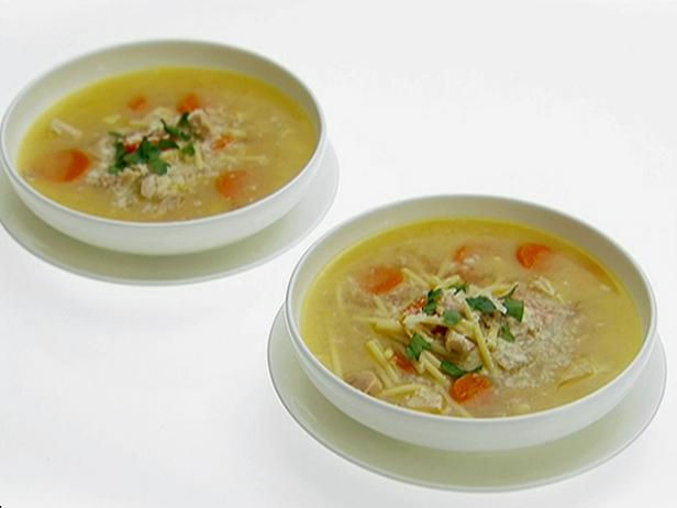 Lemon Chicken Soup with Spaghetti