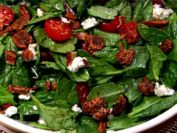 Gina's Spinach Salad with Spiced Pecans