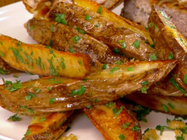 Butter-Garlic Oven Fries with Herbs