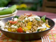 Whole Wheat Israeli Couscous with Ratatouille, Mozzarella and Balsamic Vinaigrette