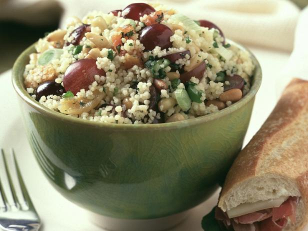 Sweet and Spicy Couscous Salad with Grapes