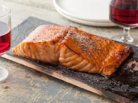 Planked Salmon with Honey-Balsamic Glaze
