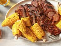 Grilled Pork Tenderloin With Corn on the Cob