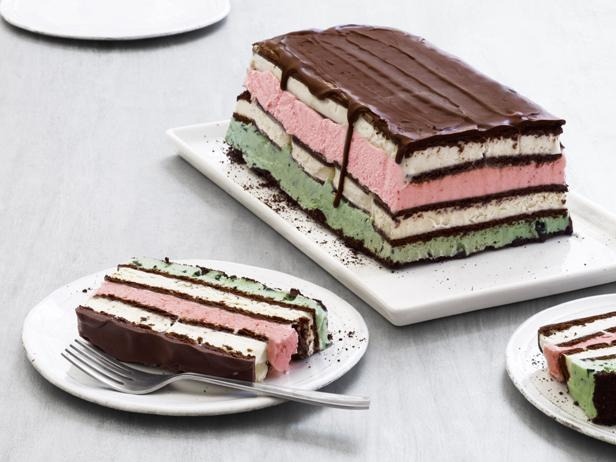 Cake Ice Cream Sandwich Recipe : Neapolitan Ice Cream Sandwich Cake Recipe Food Network ...