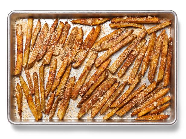 Oven-Crispy French Fries With Paprika-Parmesan Salt
