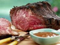 Smoked Prime Rib with Red Wine Steak Sauce