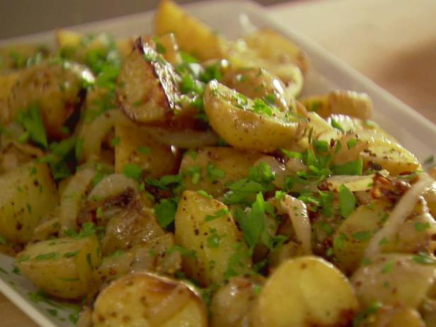 mustard roasted potatoes - Ina Garten Baked Bacon