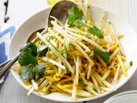 Papaya Slaw with Spicy Honey Vinaigrette