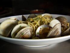 At Mediterraneo, real deal Italian food is made fresh daily by Chef Michele Calise. The spaghetti a la vongole, little neck and baby neck clams sauteed in white wine and served with white sauce, left Guy speechless. The chicken piccata is a local favorite.