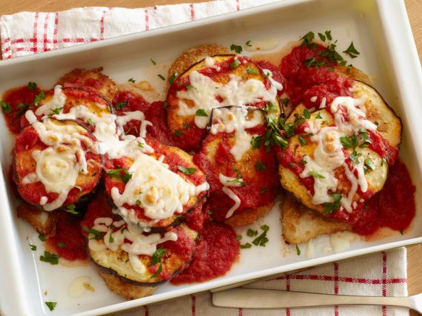 Lightened Chicken and Eggplant Parmesan