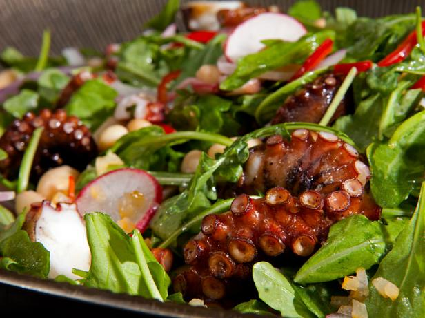 Charred Octopus and White Bean Salad