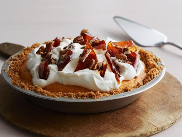 Chiffon Pumpkin Pie with Pecan Brittle