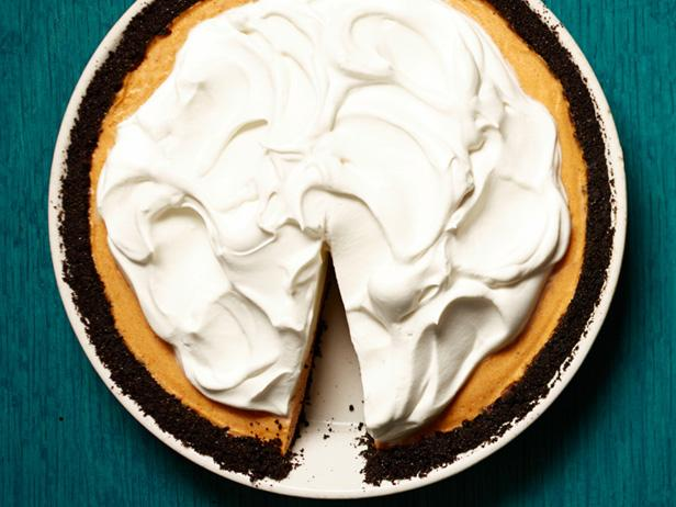 Pumpkin-Chocolate Chiffon Pie Recipe | Food Network ...