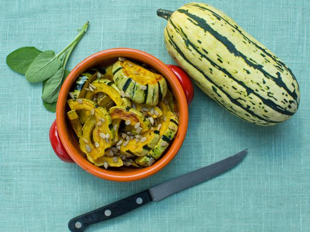 how to cook delicata squash seeds