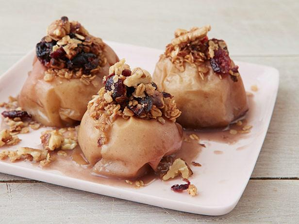Slow-Cooker Cranberry-Walnut Stuffed Apples