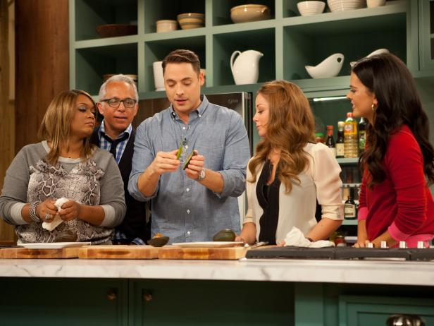 The Kitchen Food Network Cast sunny anderson dishes on episode 1 of the kitchen + behind the