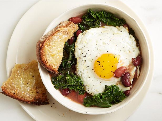 Bean, Kale and Egg Stew