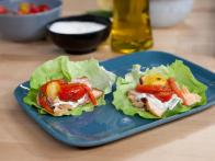 Salmon Gyro with Tomato-Red Pepper Relish and...