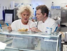Caption a photo of Food Network's Anne Burrell and Bobby Flay from Worst Cooks in America, then tune in on Sunday, March 3 at 9pm/8c to watch what happens next.