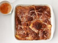 Baked Croissant French Toast With Orange Syrup