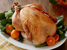 Keep things simple with Trisha Yearwood's foolproof No-Baste, No-Bother Roasted Turkey recipe for Food Network.