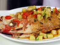 Moist Roasted Whole Red Snapper with Tomatoes...