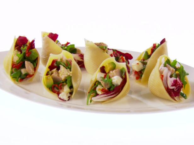 Shells filled with chicken chopped salad recipe giada de for Canape fillings