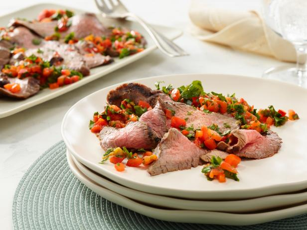 Grilled Steak With Pepper-Parsley Relish