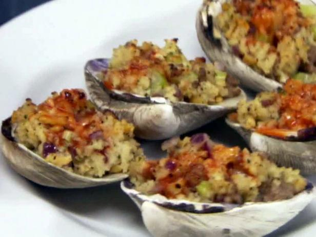 Sausage and Herb Stuffed Clams