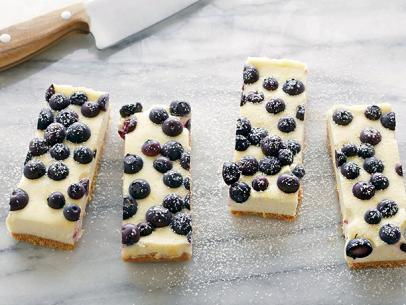 lemon blueberry cheesecake bars recipe | tyler florence | food network