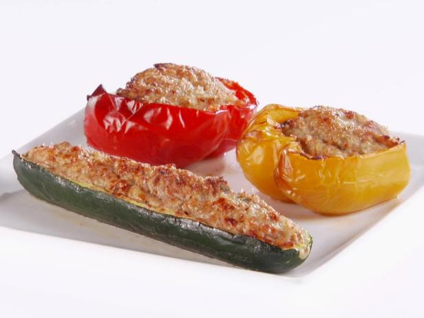 Turkey-Stuffed Vegetables