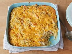 Try Ree Drummond's Chicken Spaghetti recipe, made with baked pasta, creamy mushroom sauce and bell peppers, from The Pioneer Woman on Food Network.