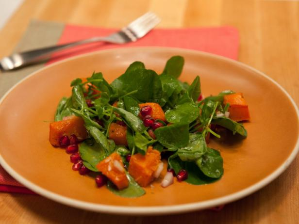 Butternut Squash and Watercress Salad with Champagne Vinaigrette