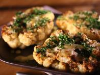 Broiled Cauliflower Steaks with Parsley and Lemon