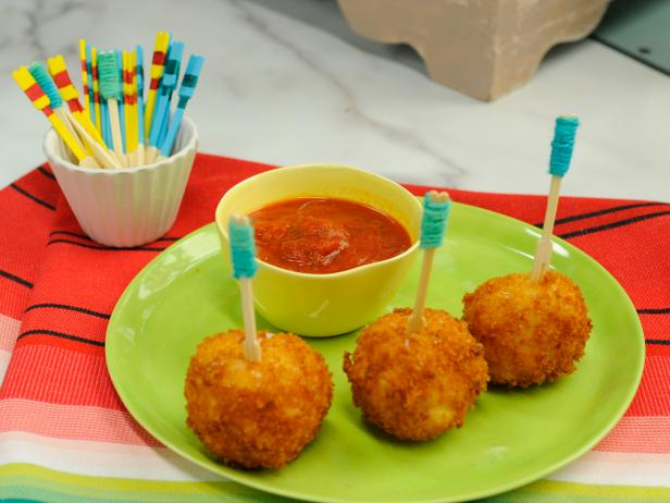 Cheesy Rice Balls
