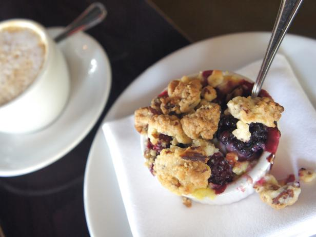 Blackberry Brown Betty with Pecan Crumble