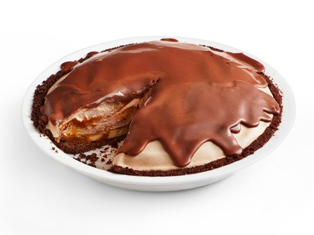 Chocolate-Caramel Banana Ice Cream Pie