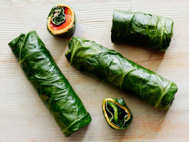 Ham and Pimento Cheese Collard Wraps