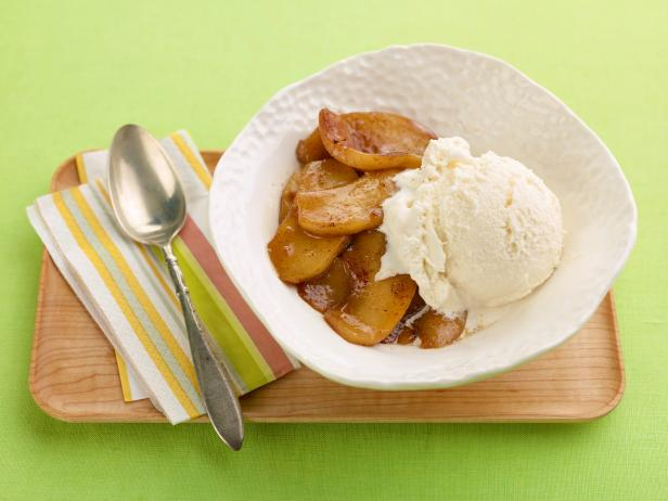 Warm Apples and Ice Cream