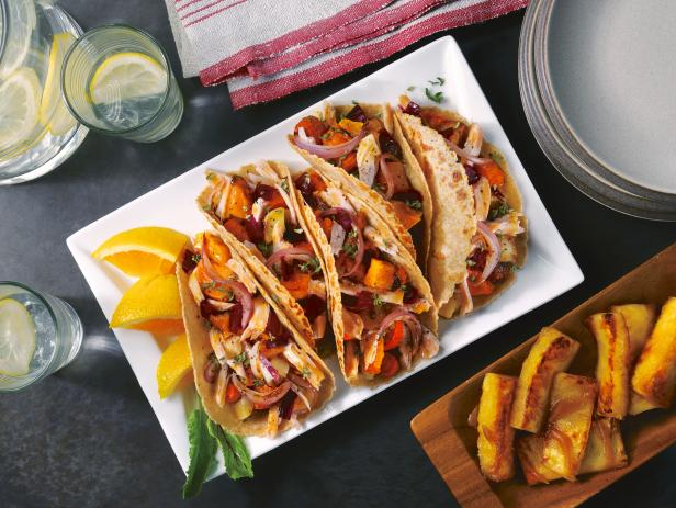 Citrus Pork Tacos with Caramelized Root Vegetables