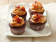 Chocolate-Bacon Cupcakes with Dulce De Leche Frosting