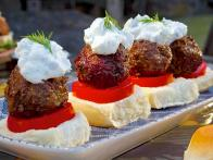 Greek Lamb Meatball Sliders with Tzatziki
